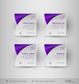 Business infographics template design elements vector image vector image