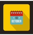Columbus Day calendar icon flat style vector image