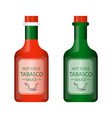green and red bottle vector image