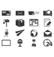 Post service icons set vector image