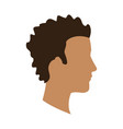 profile head afro guy avatar vector image