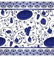 Seamless pattern chinese ornament chrysanthemum vector image