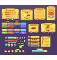 The elements of the game interface vector image