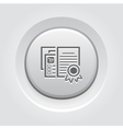 Certified Shop Icon Grey Button Design vector image