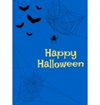 spider webs and bats vector image vector image