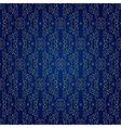 Floral vintage seamless pattern on blue vector image