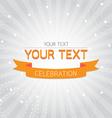 Orange vintage celebration card vector image vector image