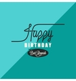 birthday vintage background vector image
