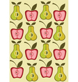 vintage pear background vector vector image vector image