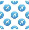Plane sign pattern vector image