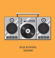 old school sound vector image