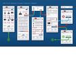 Web Store Shop Payment Checkout Framework vector image