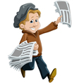 news dealer vector image