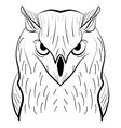 Hand drawn black white owl Tribal owl vector image