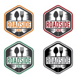 Abstract vintage label with text roadside cafe vector image