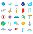 air icons set cartoon style vector image