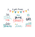 baby lettering vector image