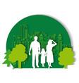 green city family flat vector image