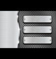 metal background with perforation and rectangular vector image