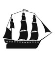 sailboat icon simple style vector image