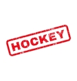Hockey Text Rubber Stamp vector image