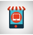 mobile phone e-commerce and laptop vector image
