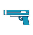 video game gun icon vector image