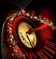 Merry Christmas and happy New Year background gold vector image
