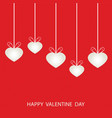 Valentines day with shaped heart vector image