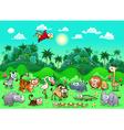 Jungle Animals vector image