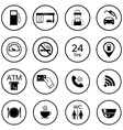 16 gas station icons Fuel isolated icons vector image