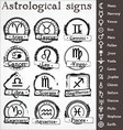 astrological signs vector image vector image