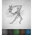 magician icon Hand drawn vector image