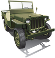 army jeep vector image