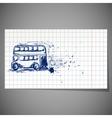 a hand-drawn double-decker bus vector image