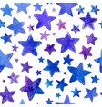 blue watercolor painted stars seamless vector image