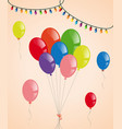 colorful balloons and party lights vector image