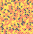 Colorful geometric cross pixel seamless pattern vector image