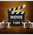 online movie and television background with vector image