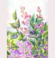 painting or watercolor poster lilac vector image
