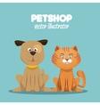 petshop veterinary symbol icon vector image