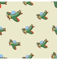 Seamless pattern with colored plane vector image
