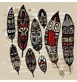 Ethnic Feather Set vector image