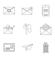 Letter icons set outline style vector image