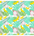 tropical summer seamless background with bananas vector image vector image
