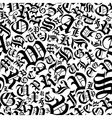 Seamless alphabet pattern in a gothic font style vector image vector image