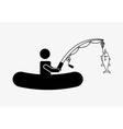 great fishing design vector image