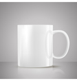 white tea cup vector image