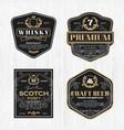 classic vintage frame for whisky labels vector image