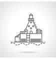 Harbor dock line icon vector image